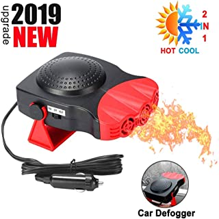 Portable Car Heater or Fan for Car -12V Cooling Car Space & Fast Heating Defrost Defogger Space Automobile Windscreen Fan,...