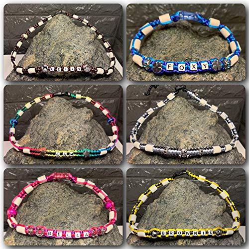 Bailey Bijoux EM Keramik Halsband gegen Zecken für Hunde * EM Keramikhalsband * Hundehalsband * Zeckenhalsband * JETZT INDIVIDUELL GESTALTEN * mit Liebe handgefertigt * Made by