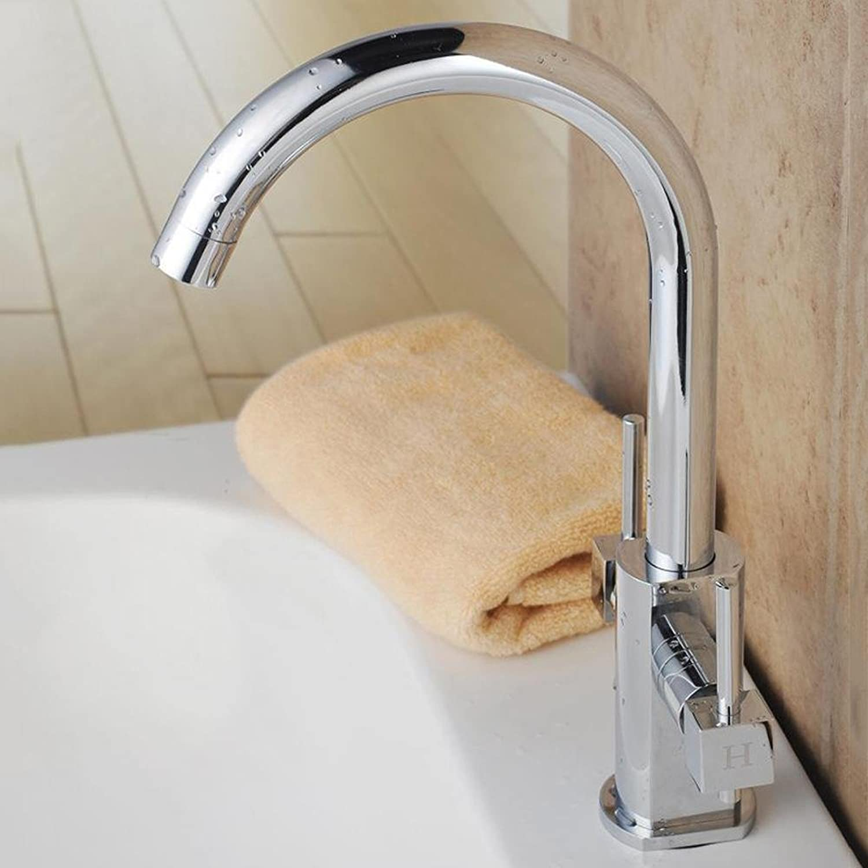 BiuTeFang Kitchen Faucet Copper Basin Faucet 360 ° Swivel Sink Faucet Lift-type hot and cold mix tap