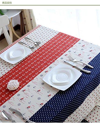 RUOYOU Leinen Tischdecken,Mediterranen Stil Tischwäsche Tisch-Abdeckung Flachs Tischsets Für Home Wohnzimmer Küche-A 120x160cm(47x63inch)