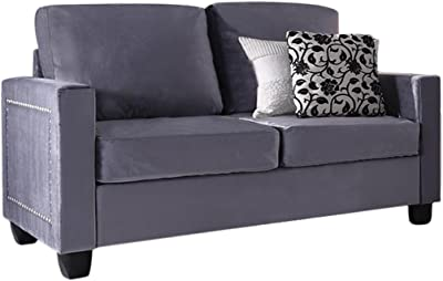 Amazon.com: Giantex Futon Sofa Bed with Backrest & Armrest ...