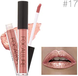 Women Sexy Cosmetic Makeup Lip Gloss Pencil Liquid Lipstick Nude Matte & Metallic Waterproof