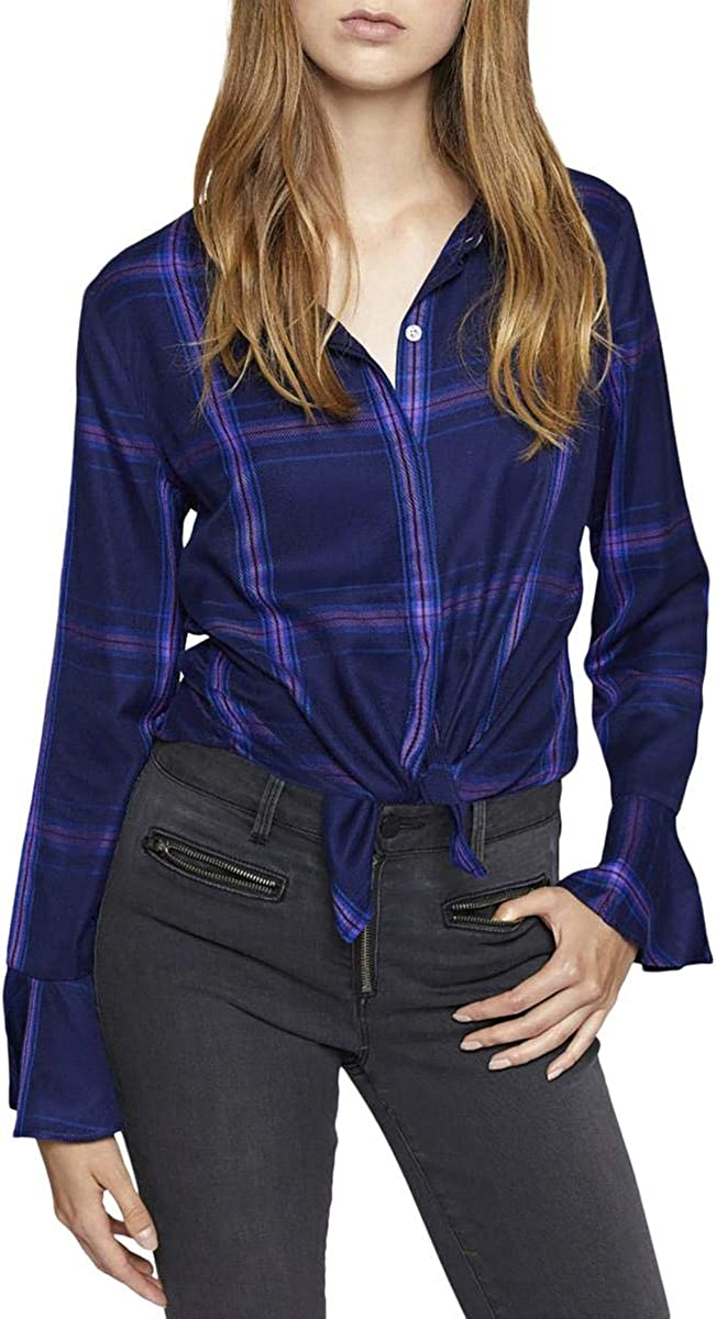 Sanctuary Womens Button-Down Long Sleeves Blouse