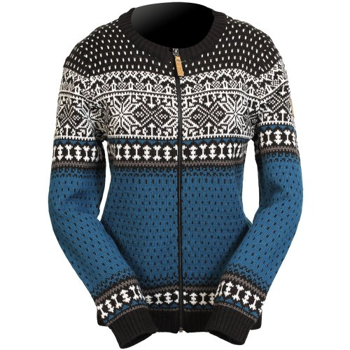 ICEWEAR Martha-Strickjacke für Frauen aus Wolle im norwegischen Stil mit durchgehendem Reißverschluss, Rundhalsausschnitt | nordisch inspiriertes Strickdesignin drei Farbgebungen, entworfen in Island