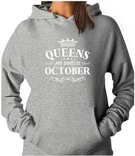 queens are born in october hoodie