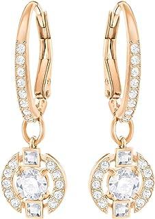 Earrings Swarovski Sparkling Dance Round 5272367 Woman Crystal