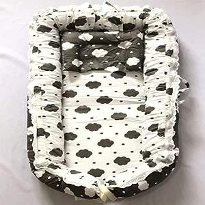 SXFYGYQ Crib Comfortable Breathable Portable Travel Baby Mattress Detachable Clean Newborn Bed White 90X55X15CM