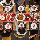 Le cielci® 18er Set Platzset aus Filz | rutschfest Abwaschbar Tischsets | Umweltfreundliche Wiederverwendbare Platzdeckchen | 6 Platzsets , 6 Glasuntersetzer, 6 Bestecktaschen | Tischset Anthrazit - 7