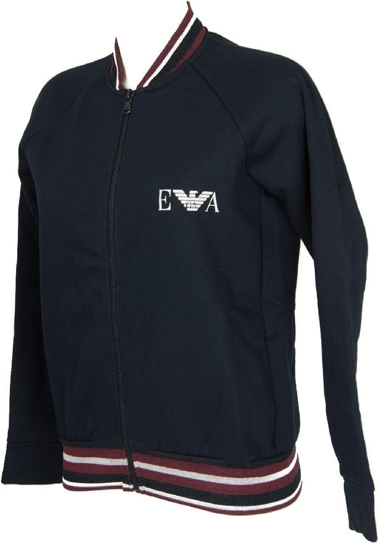Emporio Armani Open Zipper Sweatshirt Fleece Woman Sweater Jacket Zip Item 16383