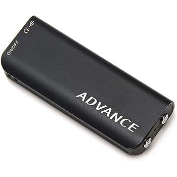 ADVANCE 24時間連続録音 ボイスレコーダー 超小型 軽量 ICレコーダー 録音機 大容量バッテリー搭載 8ギガメモリ IC-001A(バージョンアップ版)