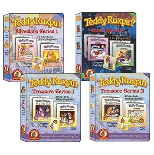 Teddy Ruxpin Favorite Software Series Bundle Program Cartridge - Adventure, Treasure and Music Series - Educational Book for Kids - 6 Stories and 2 Music Programs - Perfect Present for Birthday Party