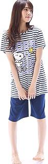 [スヌーピー] SNOOPY パジャマ レディース 選べるカラー/選べるサイズ 上下セット 半袖 半ズボン