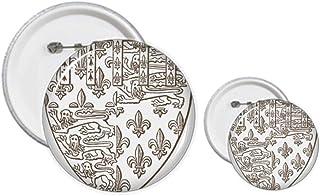 Baroque Art Kit de création de boutons et épingles, motif bouclier Lion