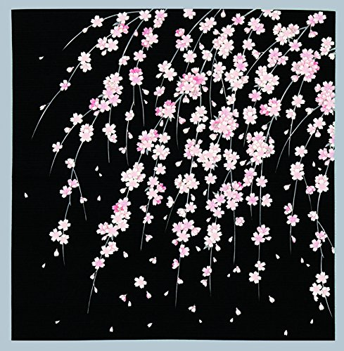 FUROSHIKI Japanese Wrapping Cloth (Weeping cherry tree in night)
