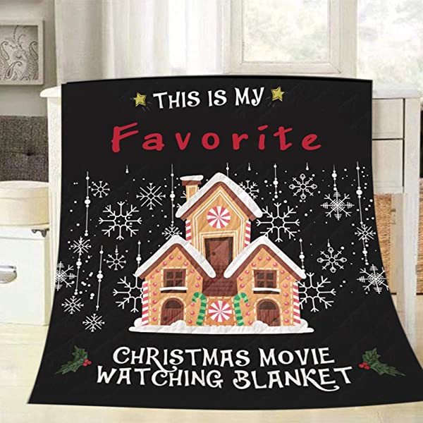 3D Printed Blanket This Is My Favorite Christmas Movie Watching Blanket Quilt Blanket For Traveling Picnics Beach Trips Concerts And Home Gifts For Kids Adults Women