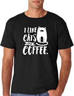 I Like Cats and Coffee - Funny Premium Men's T-Shirt