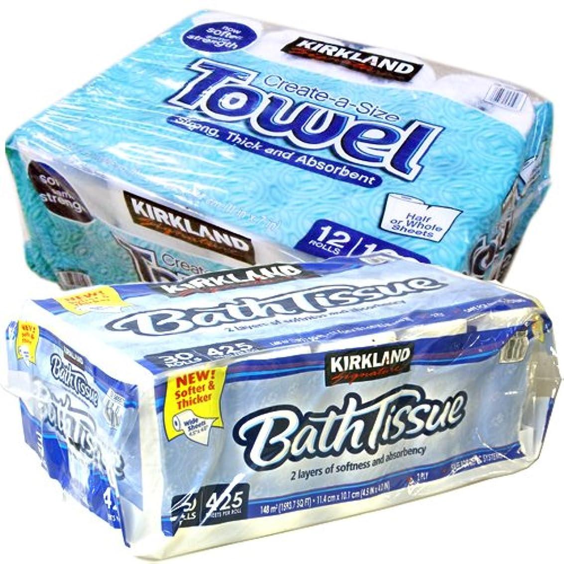 ピカソぜいたく害カークランド トイレットペーパー + キッチンペーパータオル セット (トイレットペーパー + キッチンペーパータオル セット)