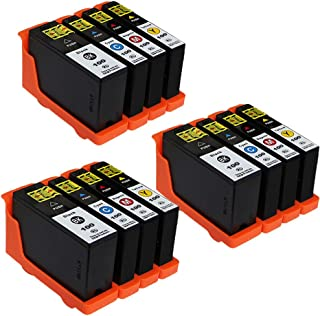 ESTON 12 Pack 100XL High Yield Ink Cartridges for Lexmark Prevail Pro705 Prospect Pro205 Printer