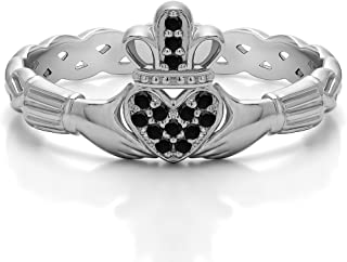 Best diamond pave claddagh ring Reviews