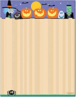 Halloween Stationery - 8.5 x 11-60 Letterhead Sheets - Halloween Printer Paper