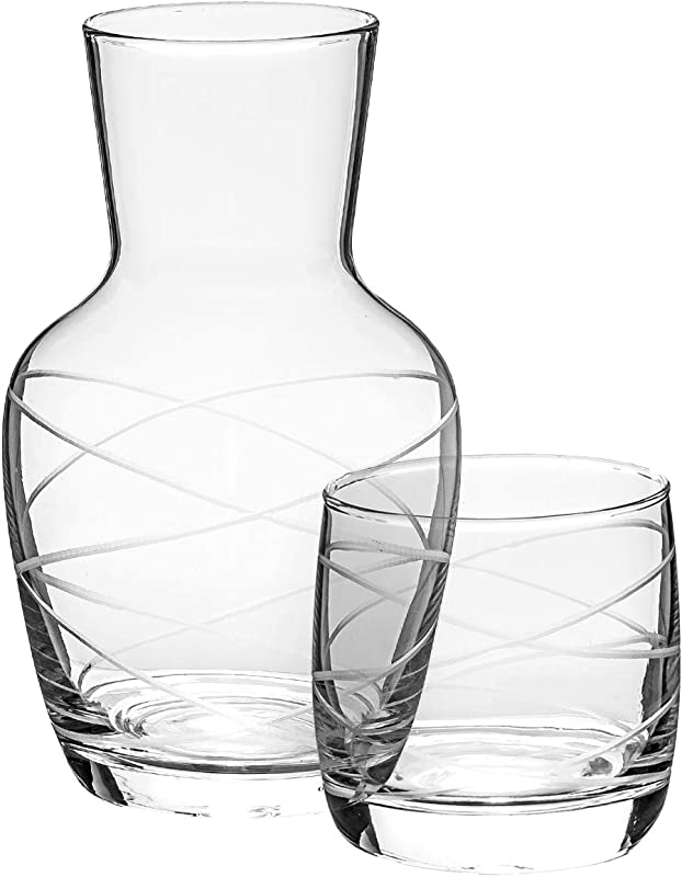 Trinkware Bedside Night Carafe With Tumbler Glass 2 Piece Water Set