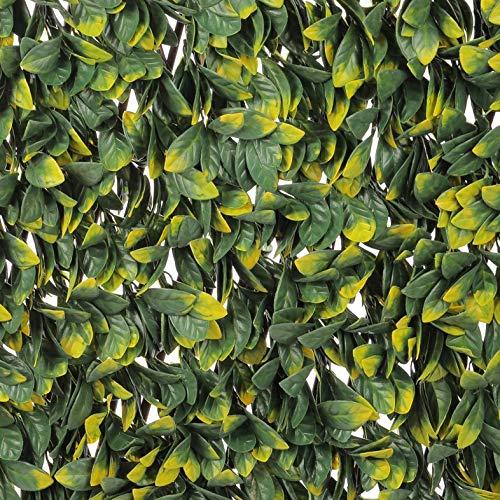 Wonderwal 180cm x 60cm Artificial Fence Trellis Screening Privacy Garden - Laurel Leaf
