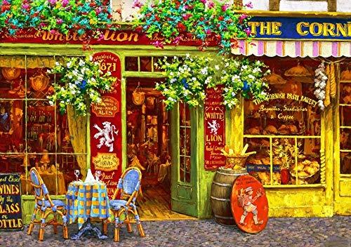Puzzel 1000 Stukjes, Parijs Winkel Uitzicht Op Straat, 1500/1000/500 Stukjes, Puzzel Spelletjes Woondecoratie Cadeaus