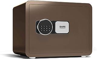YBDXMM 金庫 家庭用 小型 書類保管 テンキー式 業務用 電子金庫 防犯対策 壁付け対応 警報 警報アラーム付き 貴重書類保管ケース,コーヒーゴールド25cm