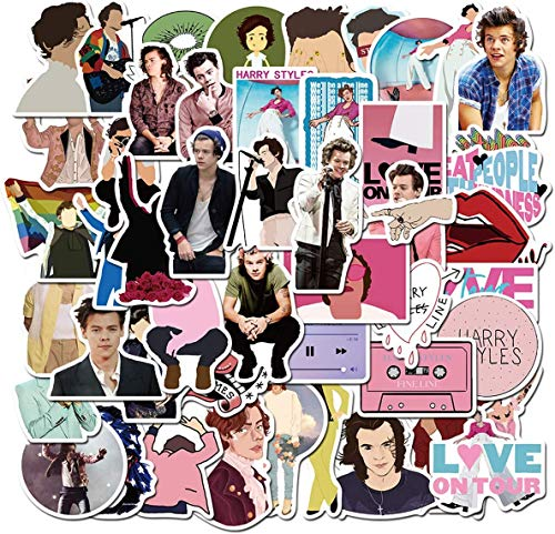 100PCS Singer Harry Styles Stickers for Laptop and Water Bottles,Waterproof Durable Trendy Vinyl Laptop Decal Stickers Pack for Teens, Water Bottles, Computer, Travel Case