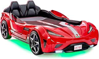 Cilek , For Boys from 2 to 12, Remote Controlled, LED Headlights, Engine Sound, Upholstered Headboard, Interior Padding, License Plate, Red