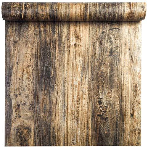 Taogift Película de Vinilo autoadhesiva Etiqueta de Muebles de Aspecto Retro de Madera Papel Pintado de Papel para gabinetes de Cocina Estantes Armario Mesa Escritorio Encimera Paredes 40CMX2,5M