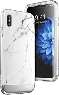 SUPCASE iPhone Xs Max Case, [Unicorn Beetle Stella Series] Premium Hybrid Shinning Glitter Bling Protective Case with Built-in Screen Protect for Apple iPhone Xs Max 6.5 inch 2018 Release (Marble)
