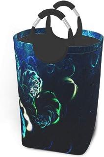 Panier à linge bleu abstrait Fracta grand panier à linge sale pliable sac grand paniers de rangement en tissu rectangle pl...