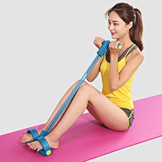 Iusun Resistance Band 2-Strength Ankle Leg Spring Puller Sit Up Foot Pedal Assist Trainer Loop Exercise for Workout, Gym Fitness, Pilates, Training, Rehab, Yoga, Physical Therapy