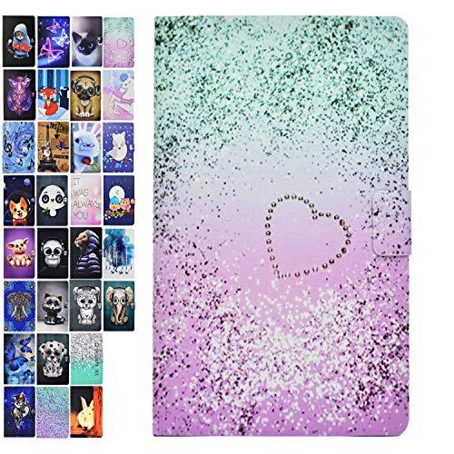 Ancase Tablet Hülle kompatibel für Samsung Galaxy Tab 3 10.1 Zoll GT-P5210 P5200 P5220 Hülle Case Leder Tasche Muster Schutzhülle Flip Cover mit Kartenfach - Liebe Treibsand
