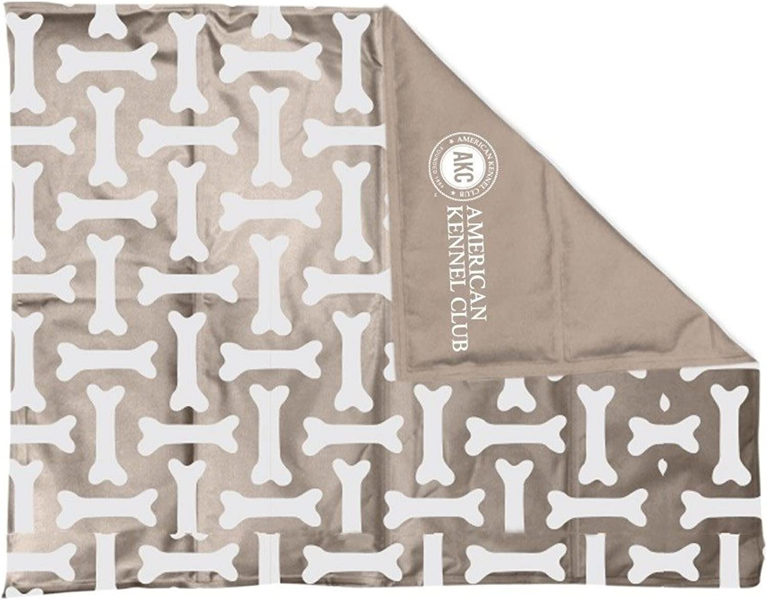 American Kennel Club AKC624TAUPE Club Reversible Bone Large Self Cooling Pet Mat, 26 x 20 x .5
