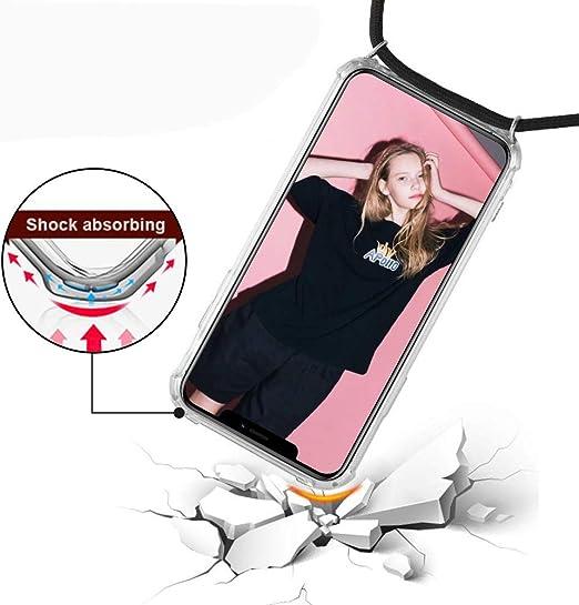 Moda y Practico Anti-rasgu/ños Anti-Choque Ultrafina Suave TPU Carcasa de movil con Colgante - Verde XTCASE Funda con Cuerda para Samsung Galaxy S20 Silicona Transparente