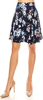 Skirts for Women, Mini, Skater, Flared, Mid Length, Stretchy, Casual, Dressy Knitted & Floral Prints