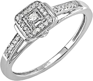 Best silver square diamond ring Reviews