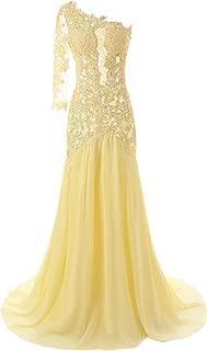 long yellow dress formal