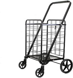 Black Heavy Duty Portable Folding Shopping Utility Cart Trolley