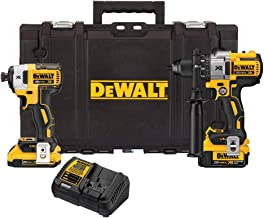 Dewalt DCKTS291D1M1R 20V MAX XR Drill/Driver and Impact Driver Combo Kit with Tough System Case (Renewed)