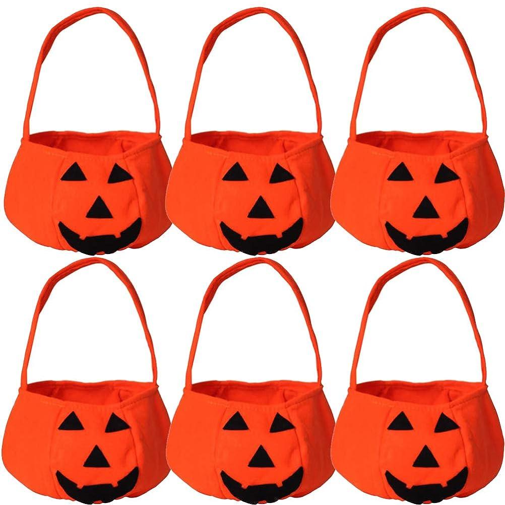 スロープスカーフアロングGLOBAL BOX ハロウィン かぼちゃ お菓子入れ バッグ (6個セット)