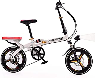 Grimk Folding Bike Unisex Alloy City Bicycle 16