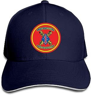 1st Battalion 11th Marine Regiment of United States Mariners Corps Unisex Sandwich Baseball Cap Adjustable Snapback Hat