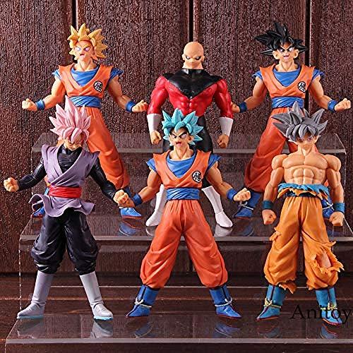 LJXGZY Romantic-Z Dragon Ball Super Saiyan Blue Son Goku Ultra Instinct Jiren Goku Black Rose Figura Accion Coleccion Decoracion Modelo Regalo de cumpleanos Estatua