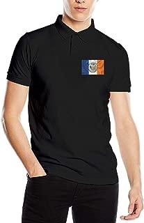 City of New York Flag Men's Classic Polo Shirt Quick-Dry Golf Polo Shirt