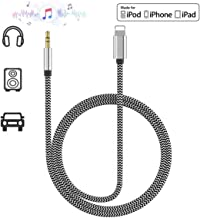Aux Cable for Car, for iPhone 3.5mm Nylon Braided Auxiliary Audio Cable AUX Cable for iPods, iPads Cord with iPhone Xs/XS Max/X/8/8Plus/7/7Plus to Car Stereo/Speaker/Headphone Adapter Support All iOS