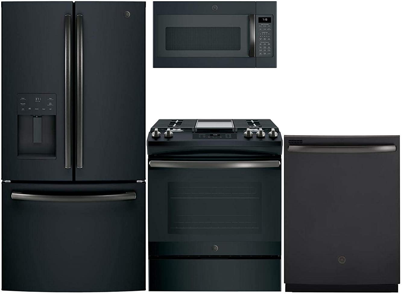 GE 4 Piece Kitchen Appliance Package with GFE26JEMDS 36