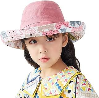 女士太阳帽,女孩太阳帽宽帽渔夫帽,夏季渔夫帽,沙滩帽,UPF50+ 户外防护帽